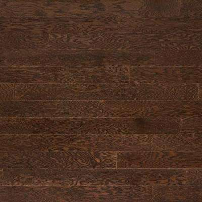 Oak Heather Gray Solid Real Hardwood Flooring - 5 in. x 7 in. Take Home Sample