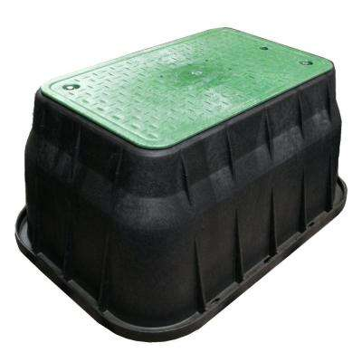 17 in. x 30 in. x 18 in. Valve Box and Bolt Down Cover - ICV