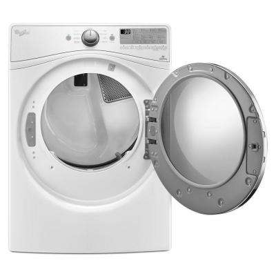 7.4 cu. ft. 120-Volt Stackable White Gas Vented Dryer with Advanced Moisture Sensing and EcoBoost