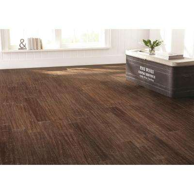 Hand Scraped Strand Woven Sandbrook 1/2 in. T x 5-1/8 in. W x 72-7/8 in. L Solid Bamboo Flooring