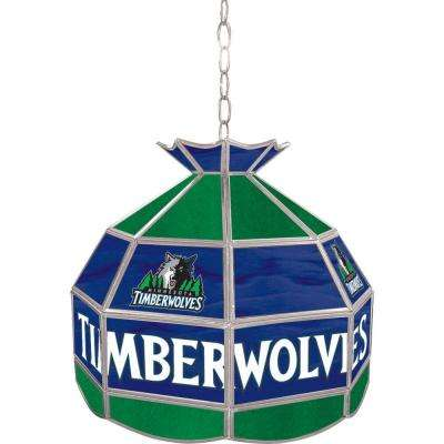 Minnesota Timberwolves NBA 16 in. Nickel Hanging Tiffany Style Lamp