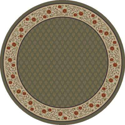 Jewel Harmony Green 5 ft. 3 in. x 5 ft. 3 in. Round Area Rug