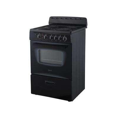 24 in. 2.6 cu. ft. Single Oven Electric Range in Black