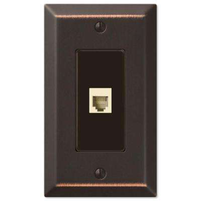 Century 1 Phone Wall Plate - Aged Bronze