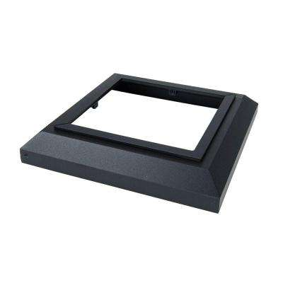 6 in. x 6 in. Black Sand Aluminum Deck Post Base Cover