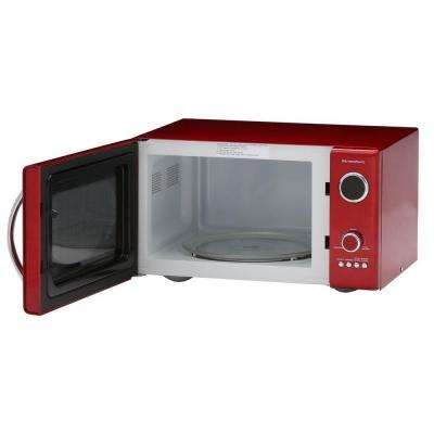 Retro Series 0.9 cu. ft. Countertop Microwave in Red