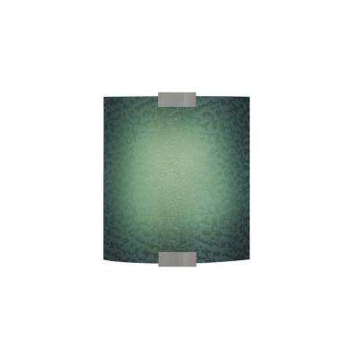 Omni with Cover Small 1-Light Bronze Blue Sconce