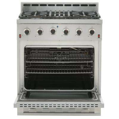 Entree 30 in. 4.5 cu. ft. Professional Style Gas Range with Convection Oven in Stainless Steel