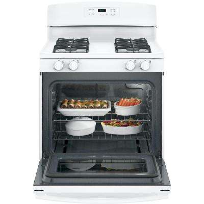 30 in. 4.8 cu. ft. Gas Range in White
