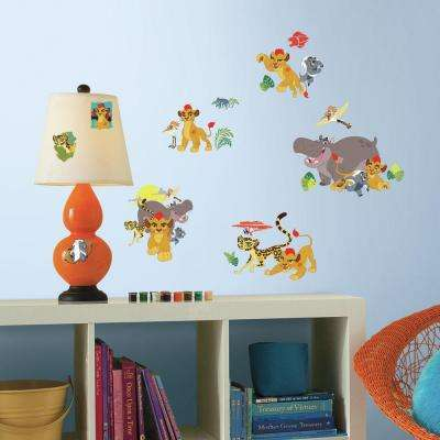 5 in. W x 11.5 in. H Lion Guard 30-Piece Peel and Stick Wall Decal