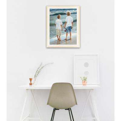 "12 in. x 16 in. ""Going Fishing"" by Georgia Janisse Printed Framed Wall Art"