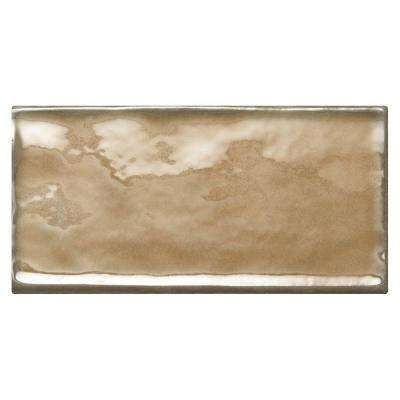 Structured Effects Balanced Taupe 3 in. x 6 in. Glazed Ceramic Wall Tile (12 sq. ft. / case)