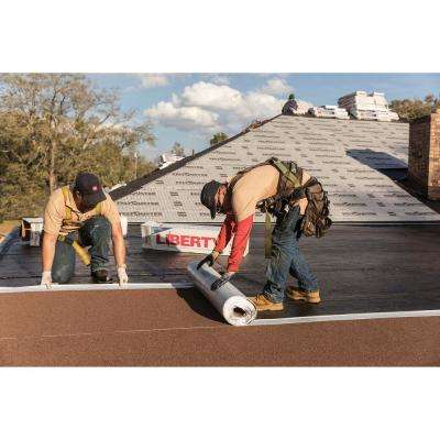 Liberty 3 ft. x 34 ft. (100 sq. ft.) SBS Self-Adhering Cap Sheet Rolled Roofing Hickory