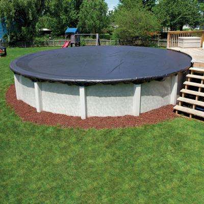 Economy 8-Year Oval Black Above Ground Winter Pool Cover