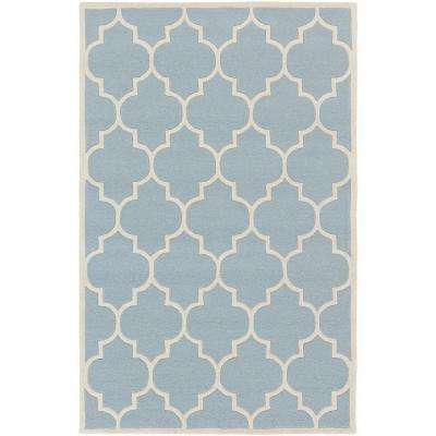 Transit Piper Sky Blue 6 ft. x 9 ft. Indoor Area Rug