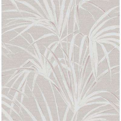 56.4 sq. ft. Song Grey Fountain Palm Wallpaper