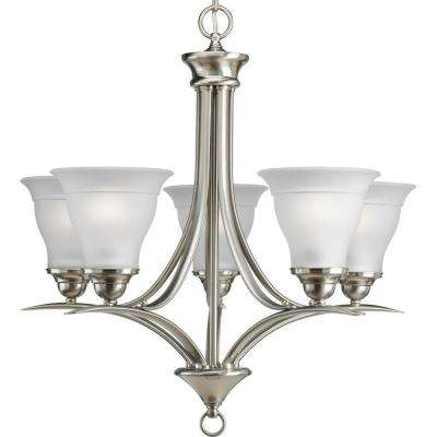 Trinity Collection 5-Light Brushed Nickel Chandelier