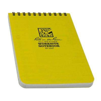 4 in. x 6 in. Top Spiral Yellow Contractors Notebook