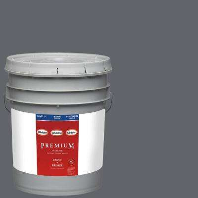 5-gal. #HDGCN39D Dark Grey Silk Satin Latex Interior Paint with Primer