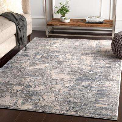 Magda Medium Grey 7 ft. 10 in. x 10 ft. 3 in. Abstract Area Rug