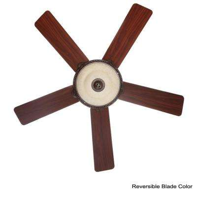 Italian Countryside 52 in. Indoor Cocoa Bronze Ceiling Fan with Light Bundled with Handheld Remote Control