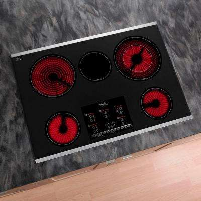 Gold 30 in. Radiant Electric Cooktop in Stainless Steel with 5 Elements including AccuSimmer Plus Element