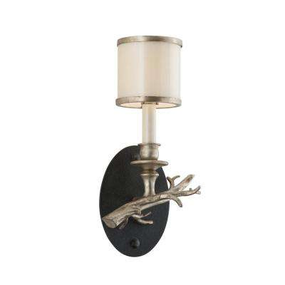 Drift Bronze With Silver Leaf Wall Mount Sconce