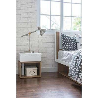 56.4 sq. ft. Kirsten White Industrial Brick Wallpaper