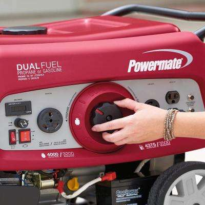 3500-Watt Electric Start Powered Dual Fuel Portable Generator with OHV Engine, 49-State/CSA Compliant