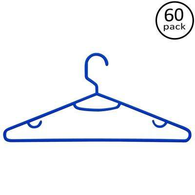 Blue Recycled Plastic Hangers (60-Pack)