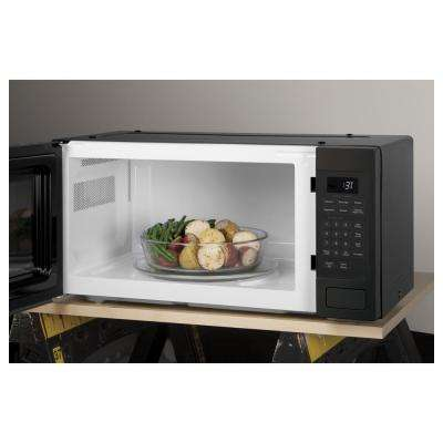 Profile 1.1 cu. ft. Countertop Microwave Oven in Black Stainless Steel, Fingerprint Resistant