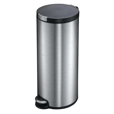 8 Gal. Artistic Step Indoor Trash Can with Soft Close in Stainless