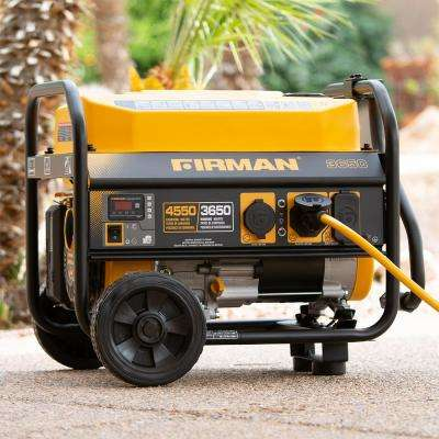 4550/3650-Watt Recoil Start Gas Portable Generator cETL Certified With Wheel Kit