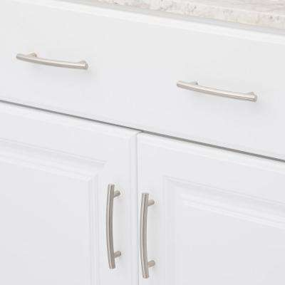 3-3/4 in. Center-to-Center Brushed Nickel Cabinet Pull