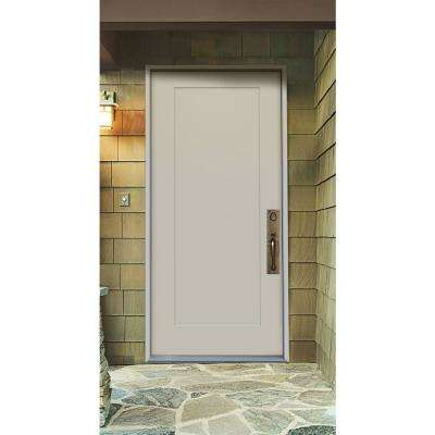 32 in. x 79 in. 1-Panel Craftsman Primed Steel Front Door Slab