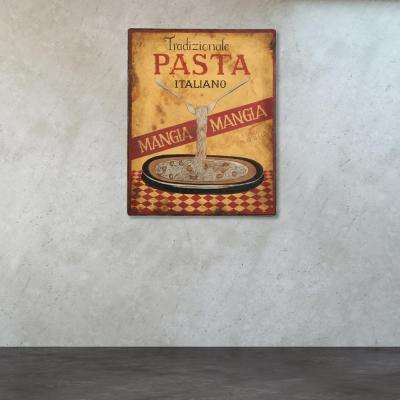 30 in. x 30 in. Metal Pasta Sign Wall Art