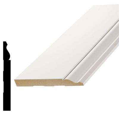 L 163E 9/16 in. x 5-1/4 in. x 96 in. Primed MDF Base Moulding