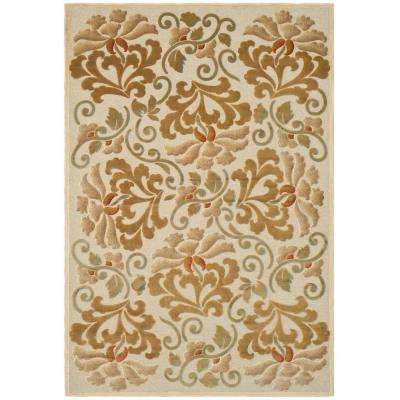 Floating Dahlia Cream 8 ft. x 11 ft. 2 in. Area Rug
