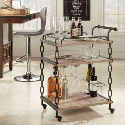 Philco Bar Cart with Casters in Light Oak