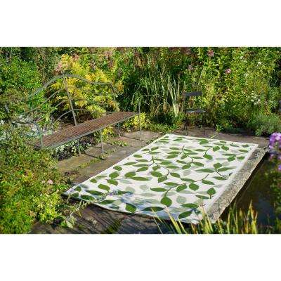 Bali Indoor/Outdoor Forest Green and Cream 4 ft. x 6 ft. Area Rug