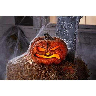 12 in. Rotten Scary Flaming Pumpkin