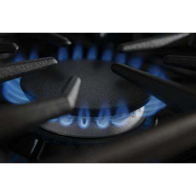 36 in. Gas Cooktop in Stainless Steel with 6 Burners Including Two 20000 BTU Ultra Power Dual-Flame Burners