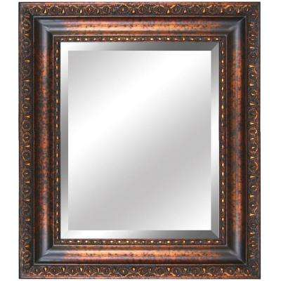 27 in. x 31 in. Rectangular Decorative Antique Gold Wood Framed Mirror