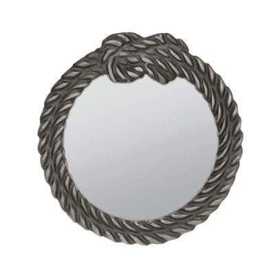 9 in. x 9 in. Knot Rope Design Framed Mirror
