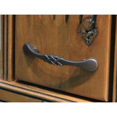 3 in. Center-to-Center Oil Rubbed Bronze Weave Cabinet Pull (10-Pack)