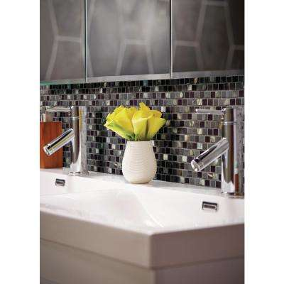 Midnight Pearl 12 in. x 12 in. x 8 mm Glass Metal and Stone Mesh-Mounted Mosaic Wall Tile