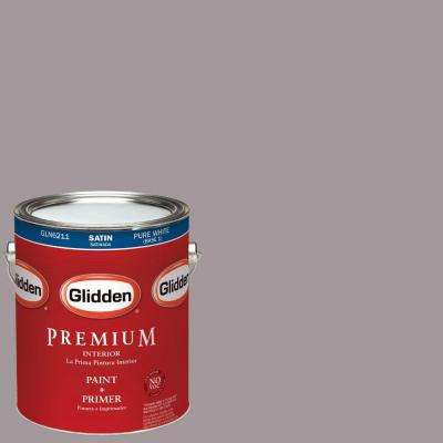 1-gal. #HDGCN58 Warm Grey Flannel Satin Latex Interior Paint with Primer