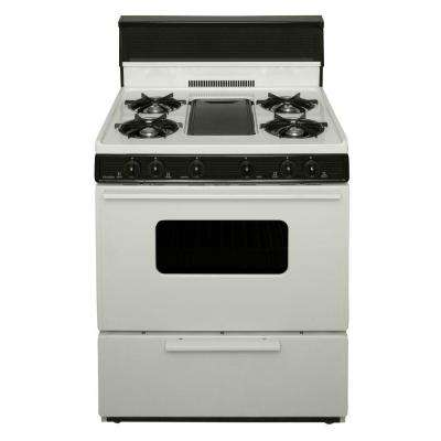 30 in. 3.91 cu. ft. Battery Spark Ignition Gas Range in Biscuit