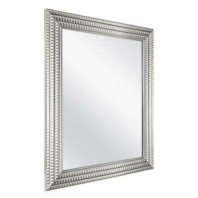22 in. x 27 in. Framed Fog Free Wall Mirror in Silver