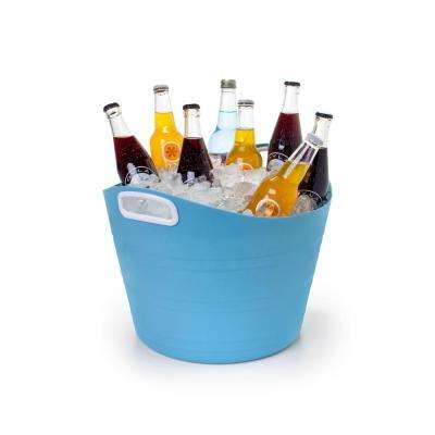 5-Gal. Party Storage Tote Blue with White Handles